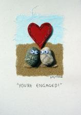 Engaged Pebbles Image